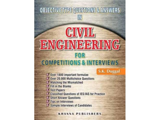 Sk duggal civil engineering mcqs and interview questions