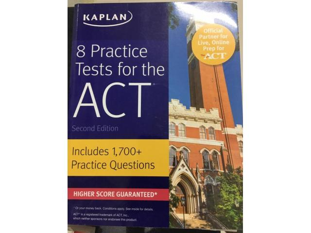 2.	Kaplan-8 Practice Tests for ACT-2nd Edition