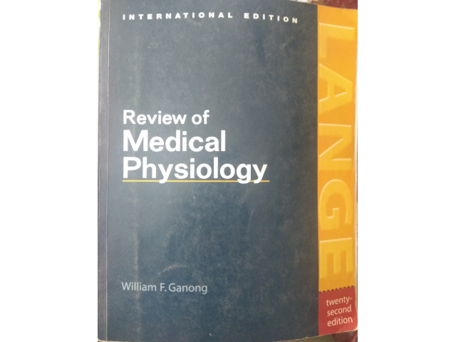Review of Medical Physiology by William F Ganong