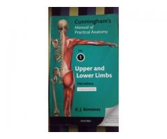 Cunningham's manual of practical anatomy volume 1 and 3